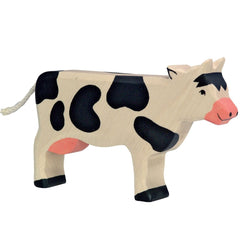 Wooden Cow Standing Holztiger