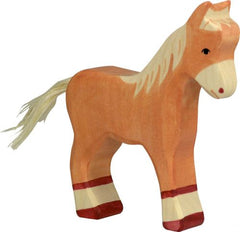 Wooden Foal light brown Holztiger