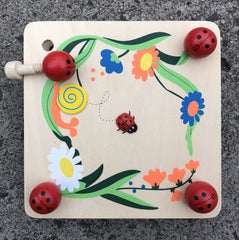 wooden ladybug flower press