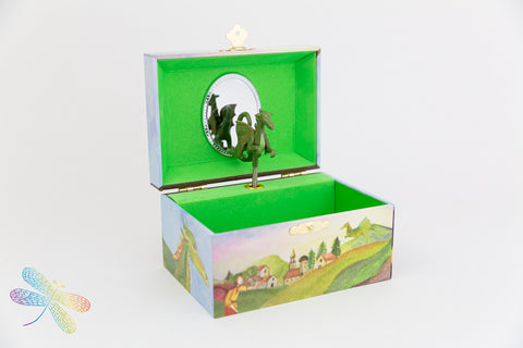 Friendly Dragon Music Box by Enchantmints, dragonfly toys