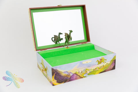 Dragons world Music Box by Enchantmints, Dragonfly toys