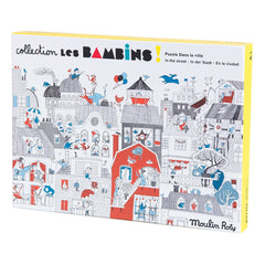 In the Street Les Bambins Puzzle 208 Pieces by Moulin Roty