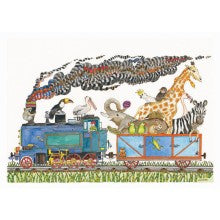 Greeting Card - Jenny Laidlaw - Animal train
