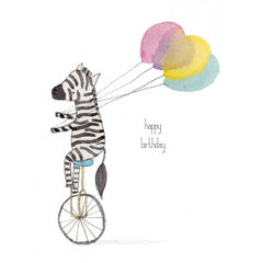 Greeting Card - Happy Birthday Zebra JM 38