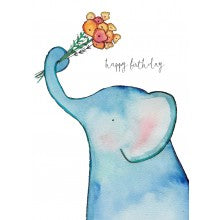 Greeting Card - Jess Racklyeft - Happy Birthday Elephant