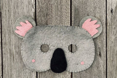Felt Animal Masks - Koala, Pashom, Dragonfly Toys