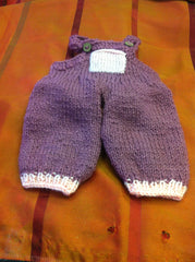 Large Doll Knitted Dungarees