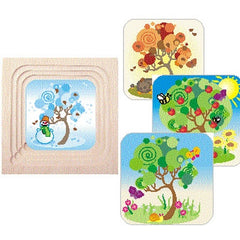 Wooden Layer Puzzle- 4 Seasons
