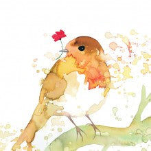 Greeting Card - Bird with flower MC 2