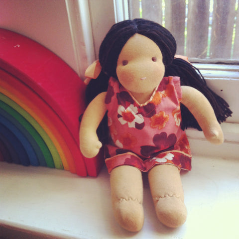Small Steiner Doll- Girl with Black Hair
