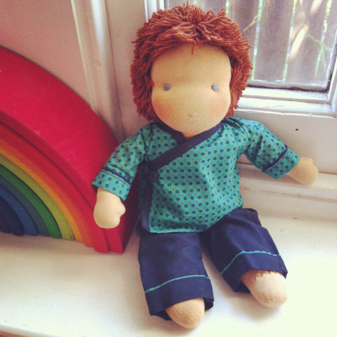Small Steiner Doll- Boy with Brown Hair