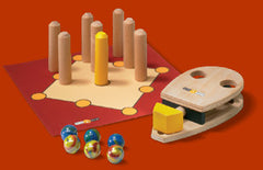 Wooden Marble Mouse Game