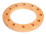 Wooden birthday ring to add candles and decorations for a special celebration.