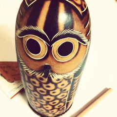 Mother Owl Shaker and Drum