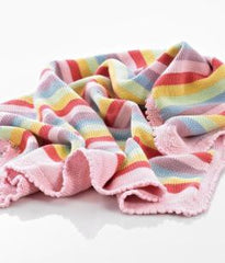 Pastel  Rainbow Cotton Blanket