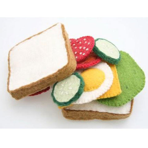 Felt Food Salad and Sandwich