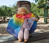 Doll Rainbow Silk Cape - Sarah Silks