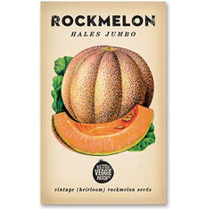 Heirloom Flower Seeds - Rockmelon Hales Jumbo