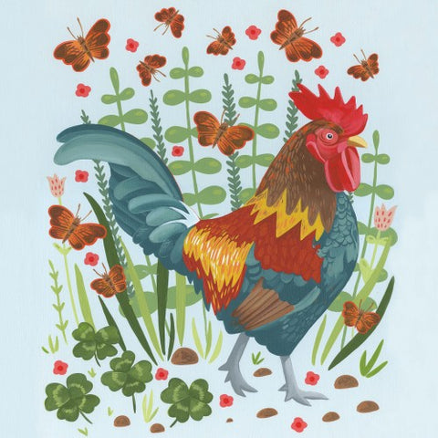 Greeting Card - Rooster