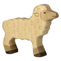 Wooden Sheep Standing Holztiger