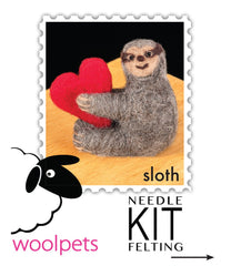 Needle Felting Kit - Love Sloth, Dragonflytoys