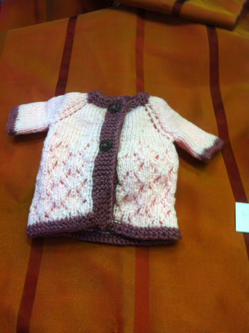 Large Doll Knitted Lace Jacket
