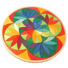 Wood flower puzzle blocks for kids