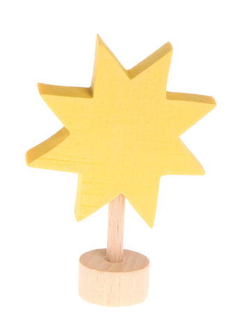 Wooden star decoration for birthday and advent rings by Grimms