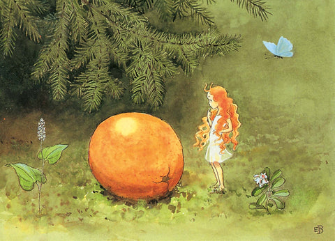 The sun egg postcard by Elsa Beskow