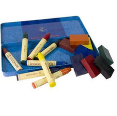 Stockmar wax crayons combination set of 8 stick and 8 block crayons