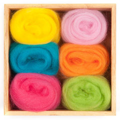 Wool Roving Tropical Colours Pack, Dragonfltoys
