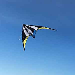 Stunt kite blue white and black