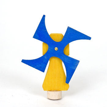 Wooden windmill decoration for birthday and advent rings by Grimms