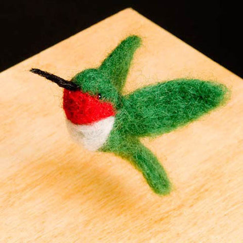 Hummingbird felting kit
