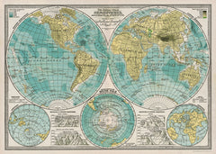 Cavallini & Co Wrap - Map Hemisphere
