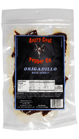 Angry Goat Pepper Co. Origadillo Beef Jerky 2oz - Hot Sauce Willie's