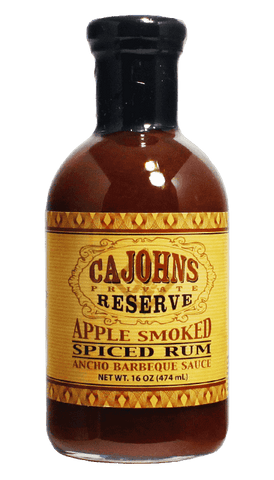 CaJohn's Private Reserve Apple Smoked Spiced Rum Ancho BBQ Sauce 16oz - Hot Sauce Willie's
