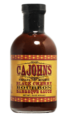 CaJohns Black Cherry Bourbon BBQ Sauce 16oz - Hot Sauce Willie's