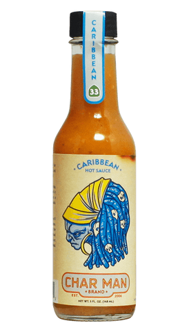 Char Man Caribbean Hot Sauce 5oz - Hot Sauce Willie's