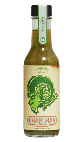 Char Man Verde Hot Sauce 5oz - Hot Sauce Willie's
