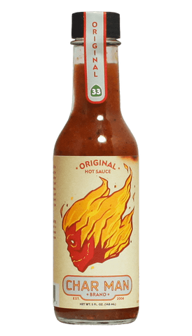 Char Man Original Hot Sauce 5oz - Hot Sauce Willie's