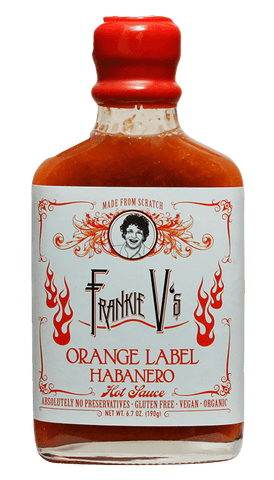 Frankie V's Orange Label Habanero Hot Sauce 6.7oz - Hot Sauce Willie's