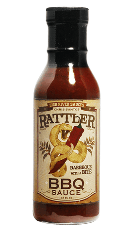 High River Sauces Rattler BBQ Sauce 12oz - Hot Sauce Willie's