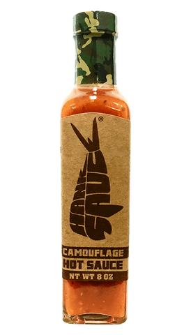 Hank Sauce Camouflage 8oz - Hot Sauce Willie's