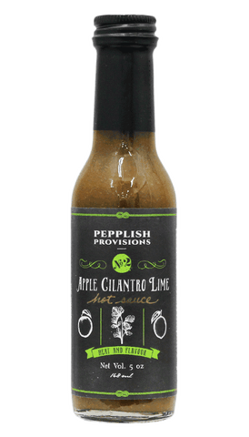 Pepplish Provisions - Apple Cilantro Lime Hot Sauce 5oz