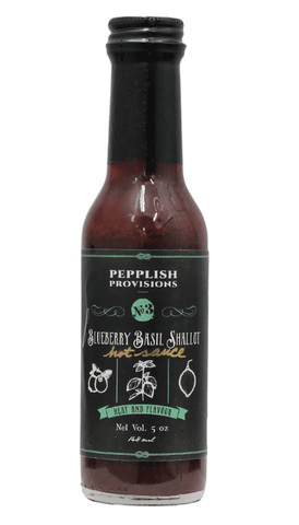 Pepplish Provisions - Blueberry Basil Shallot Hot Sauce 5oz