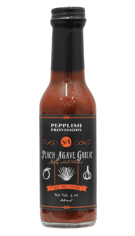 Pepplish Provisions - Peach Agave Garlic Hot Sauce 5oz