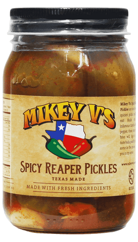 Mikey V's - Spicy Carolina Reaper Pickles 16 Oz