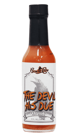 Gemini Crow - The Devil His Due (Ghost Pepper) Hot Sauce 5oz - Hot Sauce Willie's