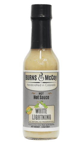 Burns & McCoy White Lightning Hot Sauce 5oz